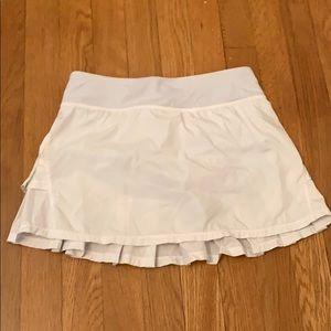 White Ivivva Set the Pace Skirt